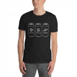 T-Shirt bière noir - Hoppy...