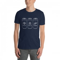 T-Shirt bière bleu- Hoppy...