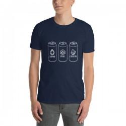 T-Shirt bière bleu - Hoppy...